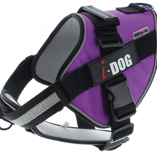 Harnais « NeoCITY » I-DOG - Violet/Gris - Taille M