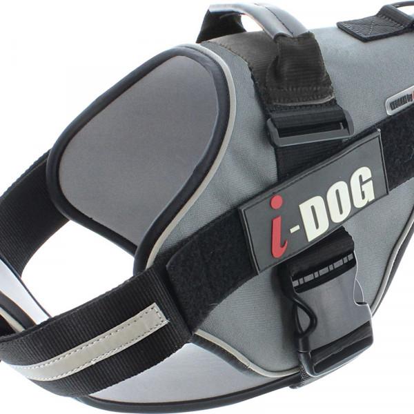 Harnais «NeoCITY» I-DOG - Noir/Gris - Taille L