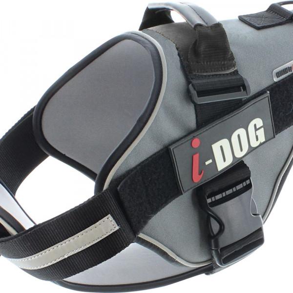 Harnais «NeoCITY» I-DOG - Noir/Gris - Taille S