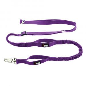 Laisse de traction «Canicross» I-DOG - Violet/Gris