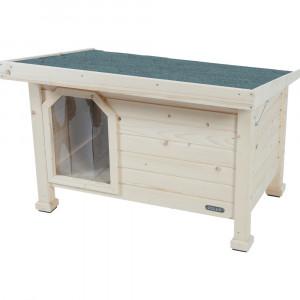 Niche bois toit plat, taille large