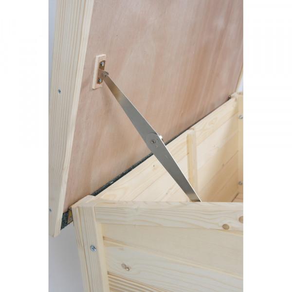Niche bois toit plat, taille médium