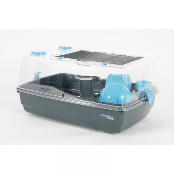 Cage INDOOR 55 cm hamster «vision 360» bleu