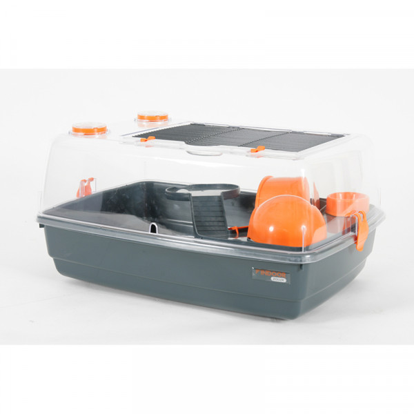 Cage INDOOR 55 cm hamster « vision 360 » orange