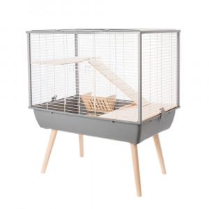 Cage NEO MUKI, 58 cm, gris