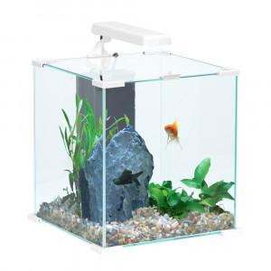 Aquarium NANOLIFE Cube 20, blanc