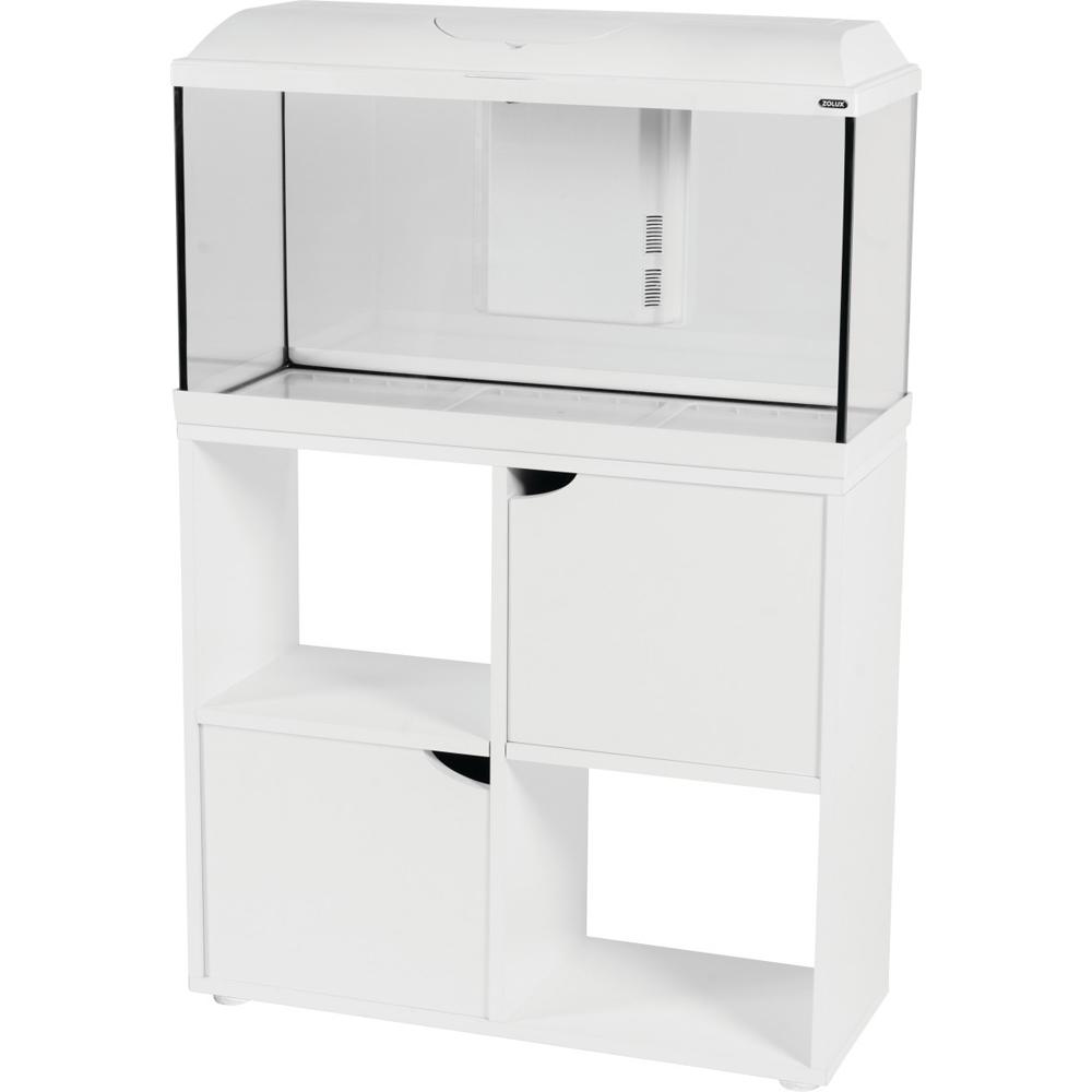 meuble aquarium iseo 80 cm blanc mon jardin vivre. Black Bedroom Furniture Sets. Home Design Ideas