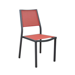 Lot de 4 chaises rouges Florence