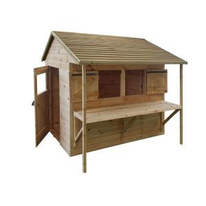 Cabane en bois pour enfant LEONTINE