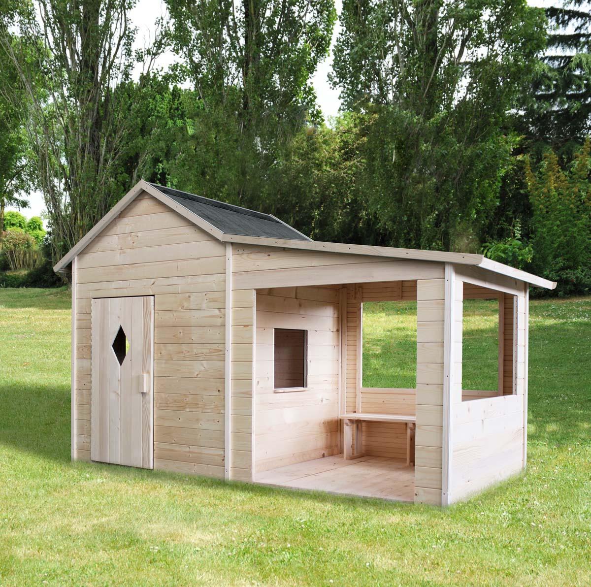 Cabane en bois pour enfant amaryllis mon jardin vivre - Cabane de jardin en bois pour enfants ...