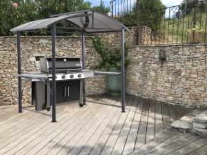 Abri barbecue en aluminium et acier L2.40 x l.50 m