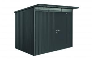 Abri AvantGarde gris foncé, porte standard 5,72 m²
