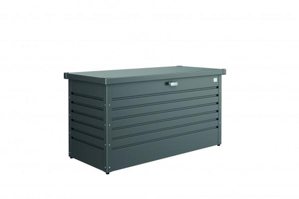 Coffre de jardin 130 gris foncé métallique