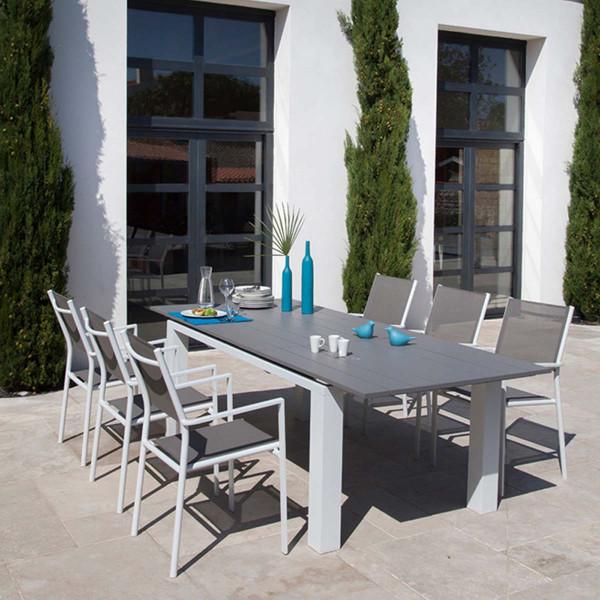 Ensemble table Eléna et 6 fauteuils Théma