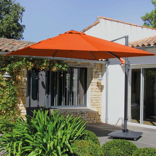 Parasol déporté orange