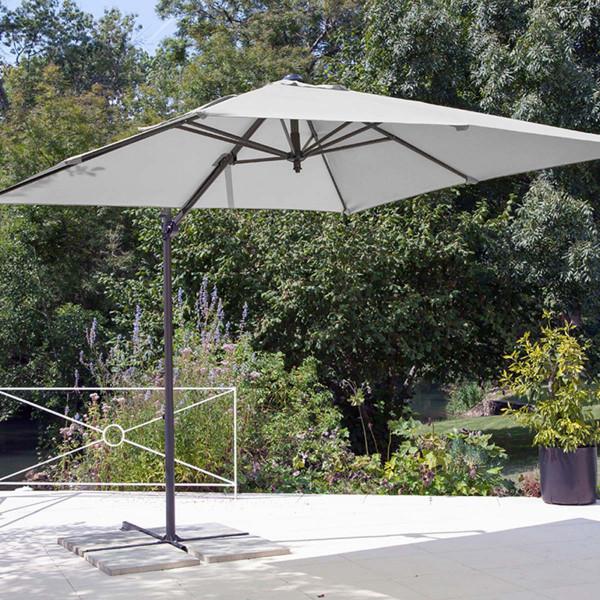 Parasol déporté Roma blanc
