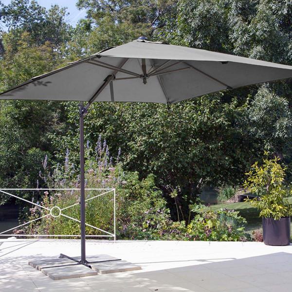 Parasol déporté Roma gris