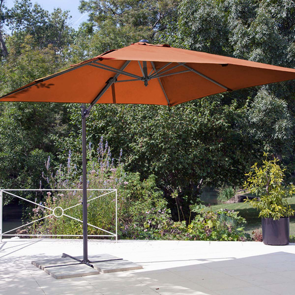Parasol déporté Roma paprika
